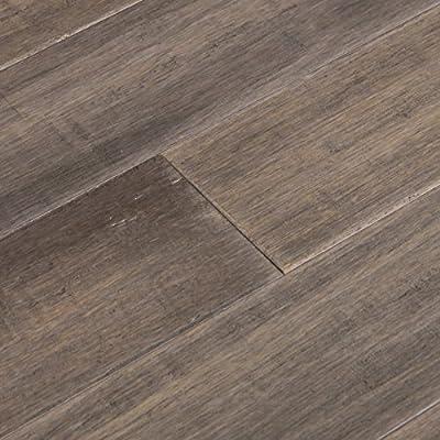 Cali Bamboo - Solid T&G Bamboo Flooring, Boardwalk Gray, Hand Scraped - Sample