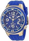 Swiss Legend Men's 21848P-YG-03 Neptune Blue Dial Blue Silicone Watch