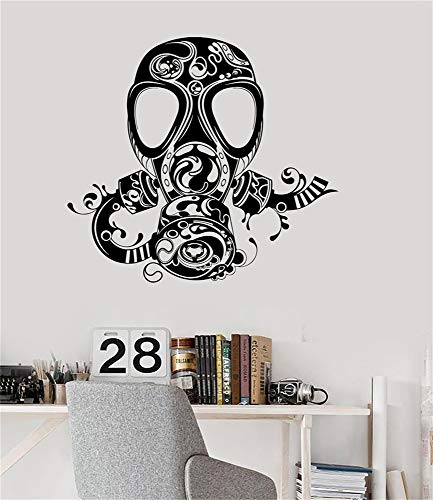 (Quotes Wall Sticker Mural Decal Art Home Decor Gas Mask Skull for Teen Kids Boy Room)