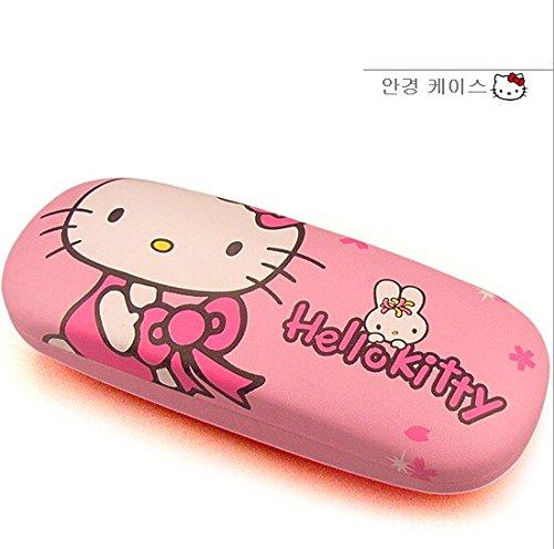e Hello Kitty Bow Eye Glasses Box Case Holder ()