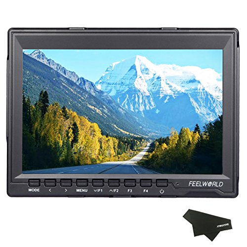 FEELWORLD FW759 7 Inch HD 1280x800 IPS On Camera Field Monitors Camera HDMI Monitor...