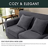 CHUN YI 3 Pieces Stretch Loveseat Sofa Cover for