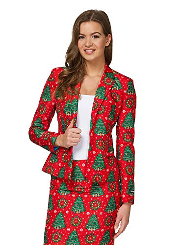 Suitmeister Ugly Christmas Dress Suit Women in Different Prints - Includes Skirt & Jacket
