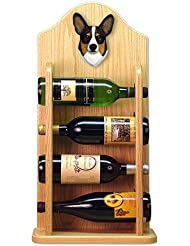 TRI Pembroke Welsh Corgi Wine Rack 4 Bottle Design In Light Oak By Michael Park