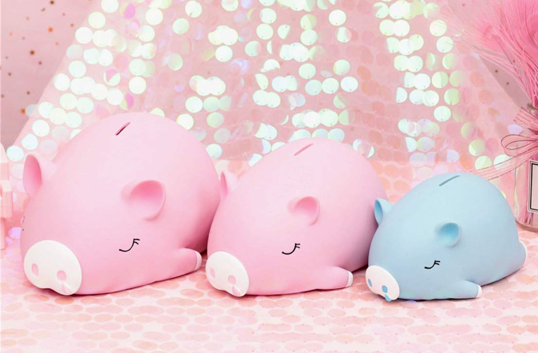 Nursery D/écor Keepsake B-FUL Cute Piggy Money Banks,Mini Piggy Bank for Girls Boys Kids Adult Gift Toy Grey, Small Makes a Perfect Unique Gift