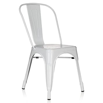 Bistrostuhle Metall Weiss