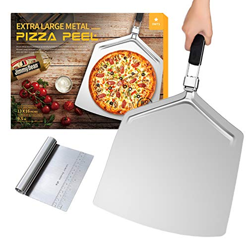 Large Pizza Peel 16 inch | DWTS Pizza Peel Extra Large Pizza Paddle Stainless Steel with Folding Handle for Indoor and Outdoor Pizza Oven. …