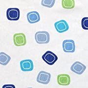 Luvable Friends Fitted Playard Sheet, Blue Geometric Print