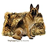 Fur Accents DogNappers Dog Bed Cat Mat Pet Pad - Luxury Padded Medium Wolf Faux Fur - Sheepskin Area Rug - Design Pet Accessories - by USA (30''x48'' XL)