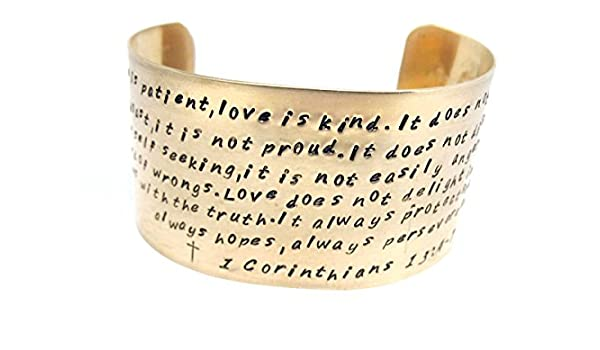 John 1:1 Pink Box 8MM Solid Stainless Steel Scripture Cuffs Gold