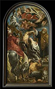 Perfect effect Canvas ,the Replica Art DecorativeCanvas Prints of oil painting 'Martyrdom of Saint Apollonia by Jacob Jordaens I,1628', 18x29 inch / 46x74 cm is best for Hallway decoration and Home decor and Gifts