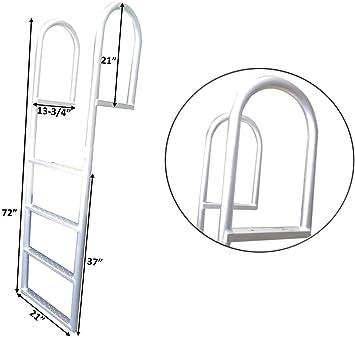 PactradeMarine - Escalera fija de 4 peldaños para paredes de mar con capacidad de aluminio, 5,4 kg: Amazon.es: Deportes y aire libre