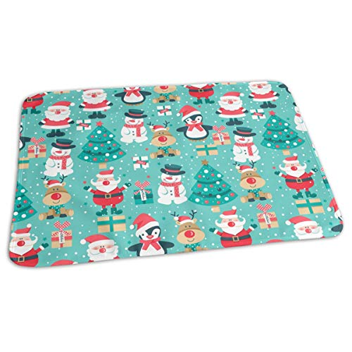 - GniDN0 Santa Claus Snowman Pattern Changing Pad - Portable Baby Diaper Changing Mat(27.5â€x19.7â€), Waterproof, Great for Any Places for Home Travel