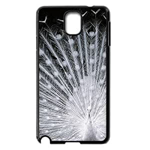 Beautiful White Peacock Customized Durable Hard Plastic Case Cover LUQ255189 For Samsung galaxy note 3 N9000