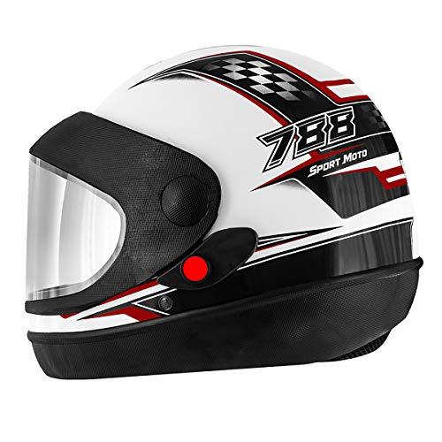 Pro Tork Capacete Super Sport Moto 56 multicor (Branco/Vermelho/Preto)