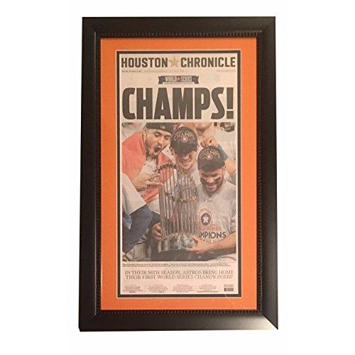 Houston Chronicle Astros 2017 World Series Champs Baseball Framed ()