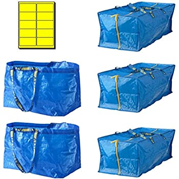 Bundle: IKEA Frakta 5 Bag Variety Pack With Yellow Labels U Line Eco  Friendly