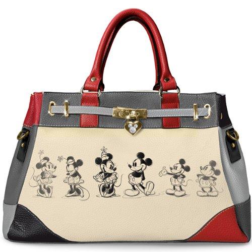 Handbag Disney Mickey And Minnie Love Story Handbag by The Bradford Exchange
