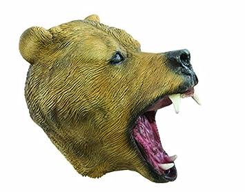 P tit payaso 40065 máscara adulto látex completo oso marrón, talla única