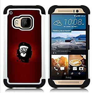 - Rebel Che Troll Face - Funny Lol Meme/ H???¡¯????brido 3in1 Deluxe Impreso duro Soft Alto Impacto caja de la armadura Defender - SHIMIN CAO - For HTC ONE M9