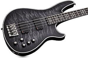 Schecter Hellraiser Extreme-4 4-String Bass Guitar, See-Thru Black Satin from SCHAM