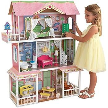 Amazon Com Kidkraft Savannah Dollhouse With Furniture Toys Games