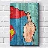 Placa Decorativa em MDF com 20x30cm - Modelo P406 - Super Homem - Humor