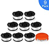 POSUGEAR 30ft 0.065'' Line String Trimmer Replacement Spool for BLACK+DECKER String Trimmers, 9 Pack (8 Replacement Spool, 1 Trimmer Cap)