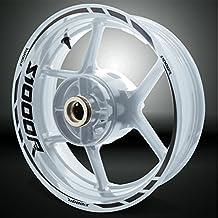 BMW S1000R Gloss Black Motorcycle Rim Wheel Decal Accessory Sticker