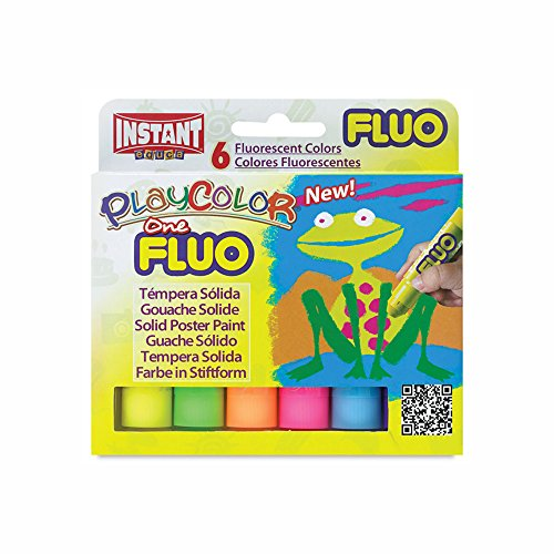 Jack Richeson PlayColor Solid Poster Paints, 6 Florescent Colors