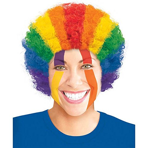 Amscan Curly Afro Wig Costume Party Headwear, Multi Color,