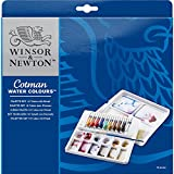 Winsor & Newton Cotman Water Colour Paint Palette Set, Set of 10, 8ml Tubes