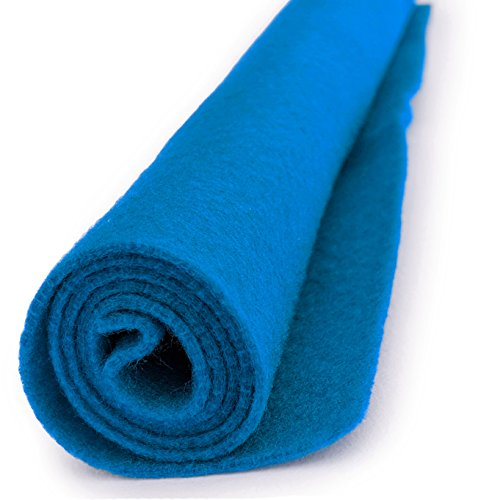 Glacial Blue - Acrylic Felt Xl Craft Sheet - 1 12x18 inch sheet (Craft Acrylic Felt Packages)