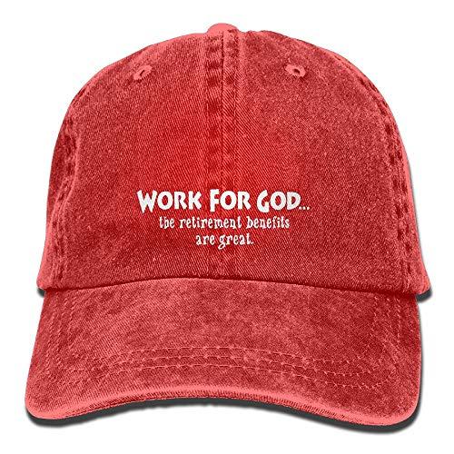 Erchee Adjustable Cowboy Cotton Ball Hat Work God The Benefi