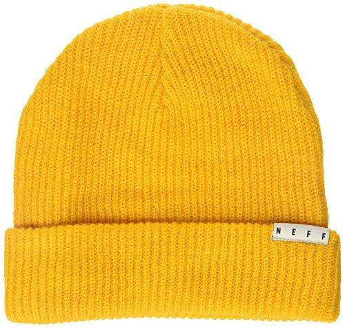 Neff Mens Fold Knit Beanie  Gold  One Size