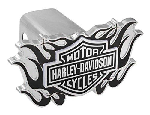 Harley-Davidson 3D B&S Logo Flames Emblem Trailer Hitch Cover, 2 Inch HDHC336-K Harley Davidson 3d Emblem