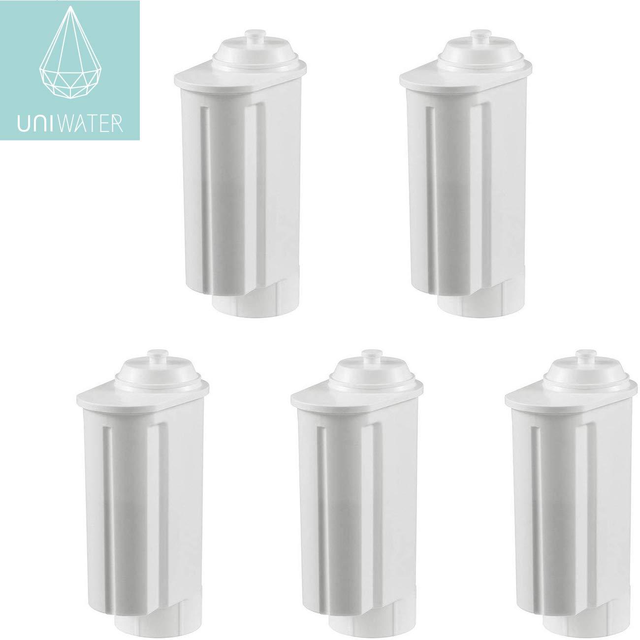 5-Pack Uniwater Water Filter Cartridges for Siemens/Bosch / Gaggenau/Neff / VeroBar-Professional/Intenza