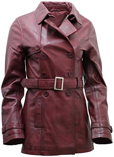 Ladies 3/4 Leather Coat - 5