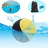 Edealing Water Bouncing Ball for Pool & Sea - Fun Water Sports Game for Family and Friends - Anti-Cracking Soft and Strong Bounce - 2.17 Inch (Yellow)
