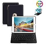 Newest iPad Keyboard Case 9.7 for iPad 2018 (6th Gen) iPad 2017 (5th Gen) iPad Pro 9.7 iPad Air 2 & 1 Wireless Keyboard Auto Sleep/Wake iPad Case with Keyboard (Black)