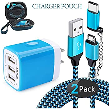 Amazon.com: USB Charger Multi Port, Ailkin Micro USB Charger ...