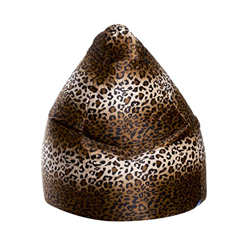 Gouchee Home Inc. Sitting Point Afro Animal-print Velvet Extra Large Bean Bag Leopard by Gouchee Home Inc.