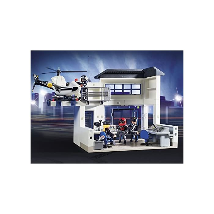 5189oGN3JgL Incluye quad, helicóptero y coche El coche tiene luces y sonido Incluye 4 figuras