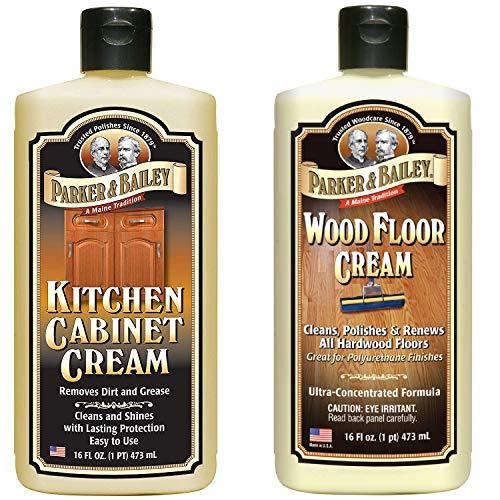 Parker & Bailey Kitchen Cabinet Cream 16oz and Wood Floor Cream 16oz Bundle
