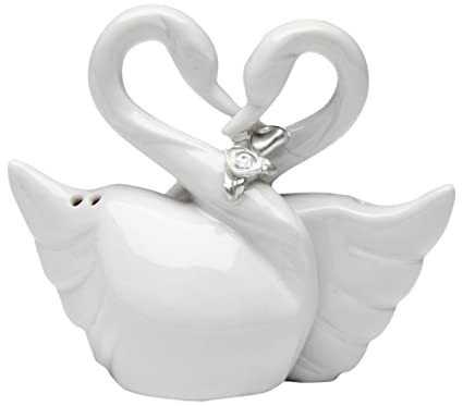 White Swans Salt and Pepper Shaker