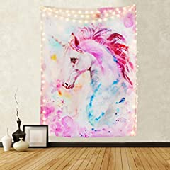 Do you want to have a convenient way to promote happiness? This pink unicorn tapestry is a nice selection. People always prefer using some decor to highlight the homely visual aesthetic. This pink unicorn tapestry is the best choice. What a ...