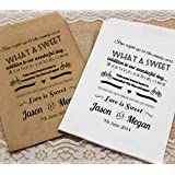 Personalised Wedding Sweet Bags CANDY POEM Candy Cart Wedding Favours Confetti Engagement (30, Brown kraft) by Made by Mika