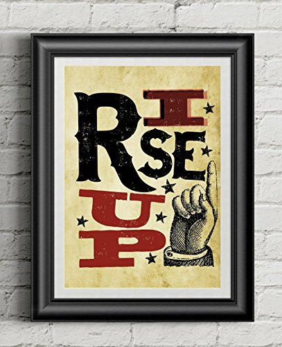 (HAMILTON 'Rise Up' | 11x14 Poster Print | Inspired By Broadway Musical Hamilton | Lin-Manuel Miranda)