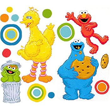 Amazon.com: Sesame Street Big Bird Self-Stick Wall Accent Stickers ...