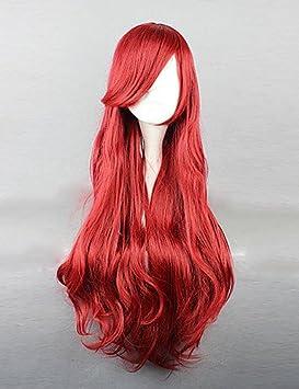 XM princesa sirena Ariel Cosplay peluca